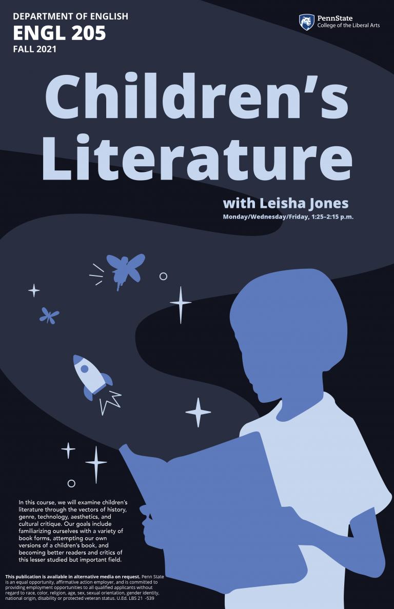 Poster for English 205, Children's Literature